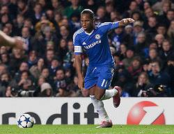 23.11.2010, Stamford Bridge, London, ENG, UEFA CL, Chelsea FC vs MSK Zilina, im Bild Chelsea's forward Didier Drogba in action during the UEFA Champions League group stage match between Chelsea FC from England and MSK Zilina from Slovakia, played at Stamford Bridge Chelsea London UK, EXPA Pictures © 2010, PhotoCredit: EXPA/ M. Gunn