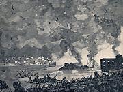Crimean War 1853-1856: Russian evacuation of Sebastopol 11 September 1855.