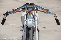 Rick Petko's 1919 direct drive (no transmission) Indian 7-hp Powerplus with a 1914 Dixie mag and a schlebler H carb just before Billy Lane's Son's of Speed race during Daytona Bike Week. New Smyrna Beach, FL. USA. Saturday March 18, 2017. Photography ©2017 Michael Lichter