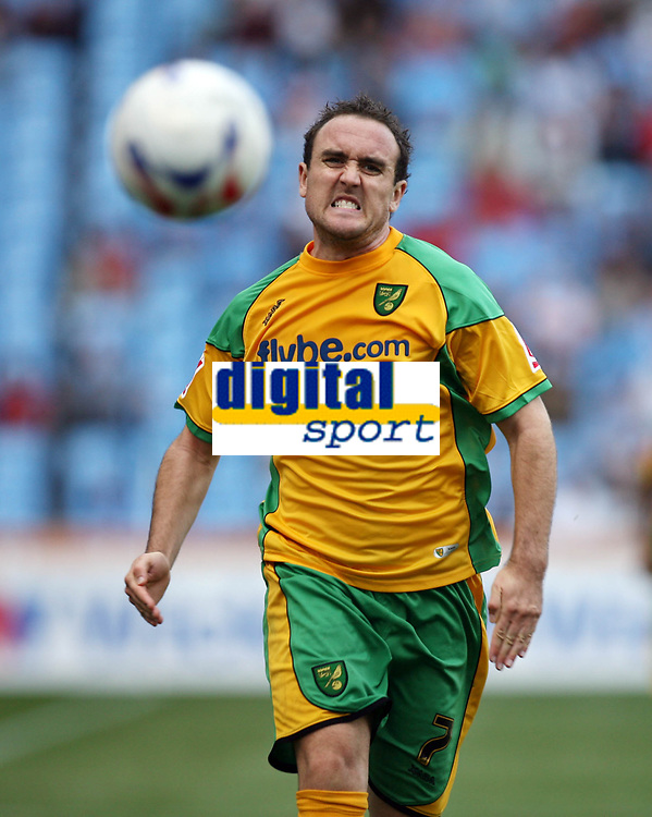 Photo: Rich Eaton.<br /> <br /> Coventry City v Norwich City. Coca Cola Championship. 09/09/2006. A fruitless chase for Lee Croft as the ball runs out of play