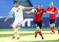 Fotball , 11. juni 2013 , Privatkamp , Norge - Makedonia<br /> Norway - FYR Macedonia 2-0<br /> Christian Grindheim , Norge<br /> Adis Jahovikj , Makedonia