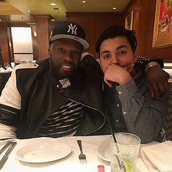 """50 Cent releases a photo on Instagram with the following caption: """"I\u2019m chilling wit my boy @dominic_gambino"""". Photo Credit: Instagram *** No USA Distribution *** For Editorial Use Only *** Not to be Published in Books or Photo Books ***  Please note: Fees charged by the agency are for the agency's services only, and do not, nor are they intended to, convey to the user any ownership of Copyright or License in the material. The agency does not claim any ownership including but not limited to Copyright or License in the attached material. By publishing this material you expressly agree to indemnify and to hold the agency and its directors, shareholders and employees harmless from any loss, claims, damages, demands, expenses (including legal fees), or any causes of action or allegation against the agency arising out of or connected in any way with publication of the material."""