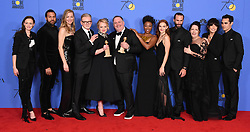 Lee Unkrich, Darla K. Anderson at the 75th Annual Golden Globe Awards held at the Beverly Hilton Hotel on January 7, 2018 in Beverly Hills, CA ©Tammie Arroyo-GG18/AFF-USA.com. 07 Jan 2018 Pictured: The Handmaid's Tale. Photo credit: MEGA TheMegaAgency.com +1 888 505 6342