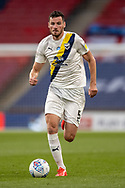 Oxford United defender Elliott Moore (5) during the EFL Sky Bet League 1 Play Off Final match between Oxford United and Wycombe Wanderers at Wembley Stadium, London, England on 13 July 2020.