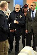 October 30, 2012- Brooklyn, NY: NYPD Commissioner Ray Kelly along with New York City Chancellor Derek Walcott and top City Officials update New Yorkers and the Nation of efforts and numbers on city response to Hurricane Sandy held at the Office of Emergency Management on October 30, 2012 in Downtown Brooklyn, NY. The Super Hurricane has ravaged parts of the New York City area where the storm has brought 23 serious fires to parts of Staten Island, Brooklyn, Queens as well as City Island and the Bronx, including the destruction of more than 80 houses in the Breezy Point section of the Rockaways.  (Terrence Jennings) .