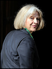 Home Secretary Theresa May arrives at Leveson Inquiry
