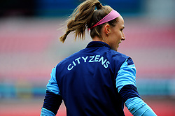 Karen Bardsley of Manchester City Women warms up prior to kick off - Mandatory by-line: Nizaam Jones/JMP - 29/08/2020 - FOOTBALL - Wembley Stadium - London, England - Chelsea v Manchester City - FA Women's Community Shield