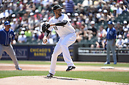 CHICAGO - JUNE 14:  Hector Noesi of the Chicago White Sox pitches against the Kansas City Royals on June 14, 2014 at U.S. Cellular Field in Chicago, Illinois.   (Photo by Ron Vesely)