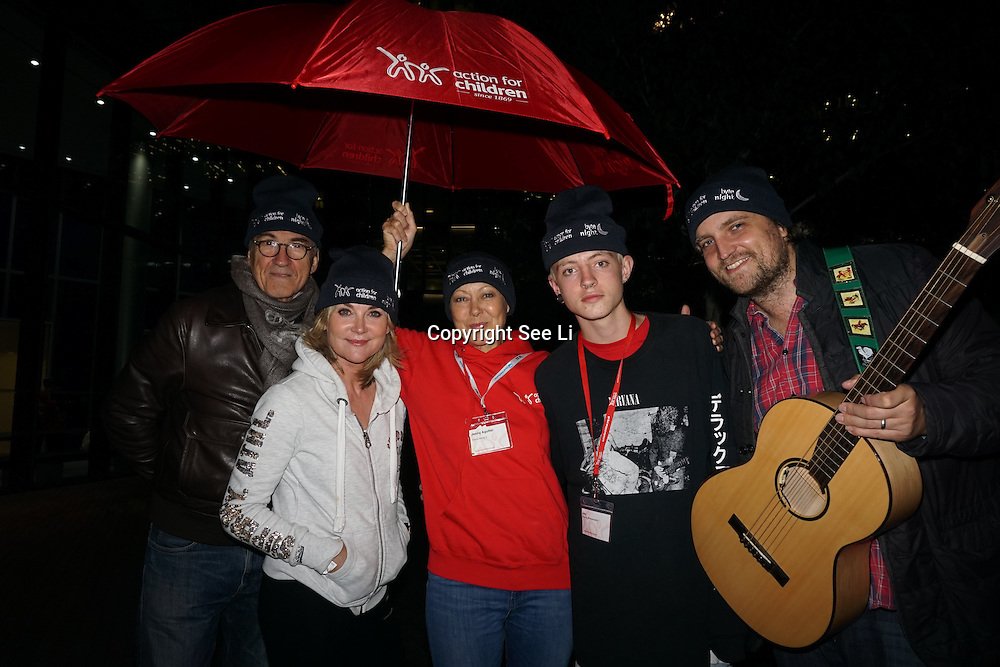 London, UK. 7th October, 2016. Larry Lamb,Anthea Turner,Jenny Agutter, Jae and James Walsh attend the Byte Night 2016 - Action for Children to tackle youth homelessness in London at Norton Rose Fulbright, 3 More London Riverside, London, UK. Photo by See Li