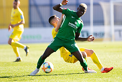 Bagnack Mouegni Macky of NK Olimpija Ljubljana vs Gnezda Cerin Adam of NK Domzale during football match between NK Olimpija Ljubljana and NK Domžale in 24rd Round of Prva liga Telekom Slovenije 2018/19, on March 30, 2019 in Sports park Domzale, Slovenia Photo by Matic Ritonja / Sportida