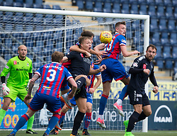 Falkirk's Peter Grant in the middle. Half time : Falkirk 0 v 0 Inverness Caledonian Thistle, Scottish Championship game played 14/10/2017 at The Falkirk Stadium.