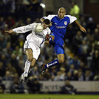 Photo. Aidan Ellis.<br /> Tranmere Rovers v Millwall.<br /> FA Cup Quater Final replay.<br /> 16/03/2004.<br /> Tranmere's Graham Allen and Millwall's Danny Dichio