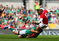 Rugby Union - 2019 pre-Rugby World Cup warm-up (Guinness Summer Series) - Ireland vs. Wales<br /> <br /> Hadleigh Parkes (Wales) in action against Robbie Henshaw (Ireland) at The Aviva Stadium.<br /> <br /> COLORSPORT/KEN SUTTON