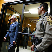 Dale Tacheny walks into the courtroom to testify in Feit's trial. Tacheny testified that Feit confessed to the murder of Irene Garza during counseling sessions while they both were at a monastery in Missouri in 1963. Tachney came forward to law enforcement 40 years later and challenged former Hidalgo County District Attorney Rene Guerra to pursue the case during Guerra's failed 2014 re-election bid. Nathan Lambrecht/The Monitor