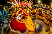 "Dancers called ""ala das Baianas"" spinning, Carnaval parade of Unidos de Bangu samba school in the Sambadrome, Rio de Janeiro, Brazil."
