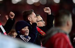 Bristol City fans  - Mandatory by-line: Joe Meredith/JMP - 20/12/2017 - FOOTBALL - Ashton Gate Stadium - Bristol, England - Bristol City v Manchester United - Carabao Cup Quarter Final