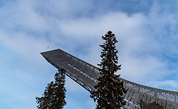 09.03.2018, Holmenkollen, Oslo, NOR, FIS Weltcup Ski Sprung, Raw Air, Oslo, im Bild Teilansicht der Schanze // Partial View of the Tower during the 1st Stage of the Raw Air Series of FIS Ski Jumping World Cup at the Holmenkollen in Oslo, Norway on 2018/03/10. EXPA Pictures © 2018, PhotoCredit: EXPA/ JFK