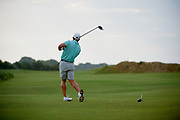 Pierceson Coody of Plano, Texas tees off during the Under Armour® / Jordan Spieth Championship presented by American Campus Communities at Trinity Forest Golf Club in Dallas, Texas on August 15, 2017. CREDIT: Cooper Neill for The Wall Street Journal<br /> JRGOLF