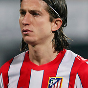 Atletico Madrid's Filipe Luis during their UEFA Europa League Round of 16, Second leg soccer match Besiktas between Atletico Madrid at Inonu stadium in Istanbul Turkey on Thursday March 15, 2012. Photo by TURKPIX