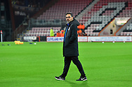Huddersfield Town manager David Wagner walking the pitch on arrival before the Premier League match between Bournemouth and Huddersfield Town at the Vitality Stadium, Bournemouth, England on 4 December 2018.