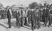First World War British volunteers on a training course, circa 1914