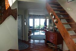 Interior of Octagonal House, Great Island, Castine, Maine, US