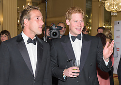 Ben Fogle and Prince Harry<br /> Prince Harry, Patron of the Walking With The Wounded South Pole Allied Challenge, attends the charity's Crystal Ball at the Grosvenor House Hotel, central London.<br /> The event hosted by Ben Fogle, with music Ellie Goulding and The Stereophonics. Also present were Olympian Matthew Pinsent CBE and Team Glenfiddich. The team of wounded service personnel will accompany the Prince on an expedition to the South Pole later this year, London,<br /> Thursday, 30th May 2013<br /> Picture by Anthony Upton / i-Images