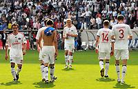Fotball<br /> Tyskland<br /> 25.04.2010<br /> Foto: Witters/Digitalsport<br /> NORWAY ONLY<br /> <br /> v.l. Piotr Trochowski, Robert Tesche, Soeren Bertram, David Jarolim, David Rozehnal HSV<br /> Bundesliga TSG 1899 Hoffenheim - Hamburger SV 5:1
