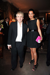 NICK RHODES and ALEX MEYERS at a party to celebrate the publication of Imperial Bedrooms by Bret Easton Ellis held at Mark's Club, 46 Charles Street, London W1 on 15th July 2010.