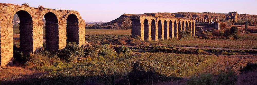 TURKEY, GREEK AND ROMAN CULTURES Aspendos; Roman aqueduct from 2cAD