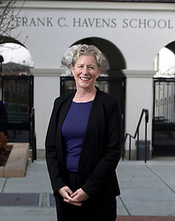Susan Terrill, the new executive director of the Piedmont Education Foundation, poses for a photograph at Havens Elementary School, in Piedmont, Calif., Tuesday, Jan. 26, 2016. (D. Ross Cameron/Bay Area News Group)