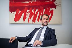 THEMENBILD - Interview mit dem Parteivorsitzenden der Tiroler SPÖ, Georg Dornauer, anlässlich der APA Sommergespräche, am Dienstag 13. August 2019, in Innsbruck // Interview with the party leader of the Tyrolean Social Democratic Party, Georg Dornauer, on the occasion of the APA summer talks, on Tuesday 13th August 2019, in Innsbruck. EXPA Pictures © 2019, PhotoCredit: EXPA/ Johann Groder