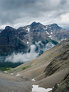 The view from on top of Sentinel Pass, looking north; Banff National Park, Alberta, Canada