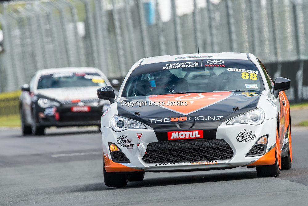 Matt Gibson at Round 2 of the Toyota Finance 86 Series at Pukekohe 2014. Photo by Bruce Jenkins/ www.brucejenkins.co.nz