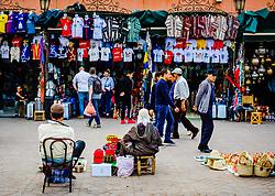 Market stalls in the Jemaa el-Fnaa, Marrakech: , Morocco<br /> <br /> (c) Andrew Wilson | Edinburgh Elite media