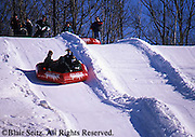 Outdoor recreation, Skiing, ski slopes, downhill skiing Snow Tubing slope, Poconos, PA