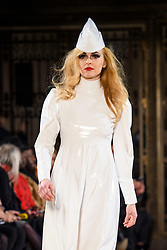 Fearne Cotton on the catwalk during the Pam Hogg Autumn/Winter 2017 London Fashion Week show at the Fashion Scout venue in Freemason's Hall, London. Picture date: Saturday February 19th, 2017. Photo credit should read: Matt Crossick/ EMPICS Entertainment.