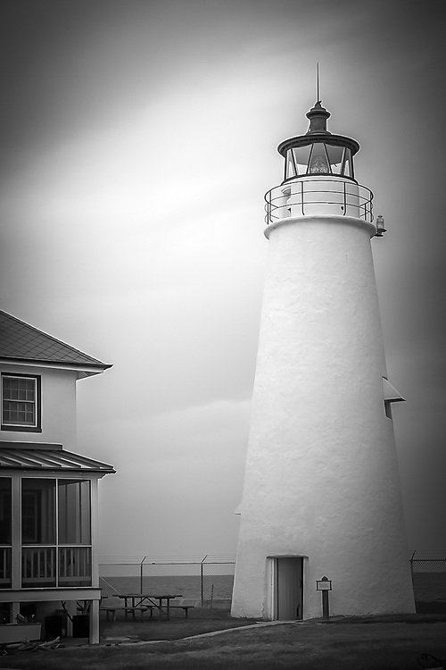 The Cove Point Light is a lighthouse located on the west side of Chesapeake Bay in Lusby, Calvert County, Maryland, MD