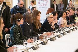 Emma Watson, Denis Mukwege, Marlene Schiappa, Mercedes Eva and guests during the first meeting of the G7 Gender Equality Advisory Council in Paris, France, on February 19, 2019. Photo by Jacques Witt/Pool/ABACAPRESS.COM