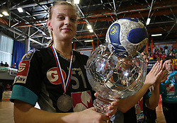 Barbara Varlec of Krim at handball game ZRK Celje Celjske Mesnine vs RK Krim Mercator in final match of Slovenian Handball Cup,  on April 6, 2008 in Arena Golovec, Celje, Slovenia. Krim won the game 31:21 and became Cup Winner.  (Photo by Vid Ponikvar / Sportal Images)
