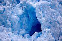 A glacier hole in the Chilean Fjords in South America.