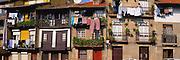 PORTUGAL, MINHO, NORTH Guimaraes; first capital; balconies