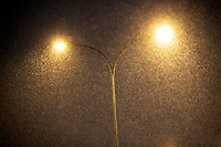Bialystok, 16.01.2021. Gwaltowny atak zimy, w ciagu paru godzin przybylo kilkanascie centymetrow sniegu N/z intensywanie padajacy snieg fot Michal Kosc / AGENCJA WSCHOD