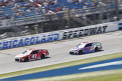 July 1, 2018 - Joliet, Illinois, United States of America - Darrell Wallace, Jr (43) battles for position during the Overton's 400 at Chicagoland Speedway in Joliet, Illinois  (Credit Image: © Justin R. Noe Asp Inc/ASP via ZUMA Wire)