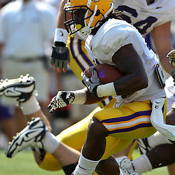 April 9, 2011; Baton Rouge, LA, USA;  LSU Tigers running back Spencer Ware (11) runs during the 2011 Spring Game at Tiger Stadium.   Mandatory Credit: Derick E. Hingle