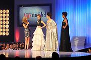 Finale Benelux Next Top Model vanuit de lichtfabriek in Haarlem.<br /> <br />  Op de foto:  Denise , Maxime en Rosalinde in een jurk van  Addy van den Krommenacker