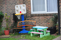© Licensed to London News Pictures 26/10/2018<br /> NEW ASH GREEN,UK.<br /> Toys in the front garden.<br /> The home of Sarah Wellgreen in New Ash Green with its own cctv system.<br /> The search continues today for missing mother of five from New Ash Green Sarah Wellgreen.<br /> Photo credit: Grant Falvey/LNP
