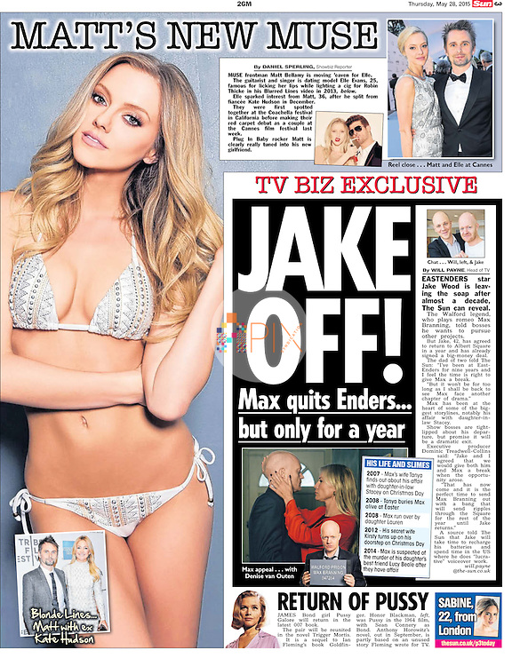 Blurred Lines babe Elle Evans is dating Muse frontman Matt Bellamy following his split from Kate Hudson, as featured in the 28 May edition of The Sun UK.<br />