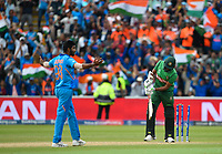 Cricket - 2019 ICC Cricket World Cup - Group Stage: Bangladesh vs. India<br /> <br /> Bangladesh's Mustafizur Rahman bowled by India's Jasprit Bumrah as India beat Bangladesh by 28 runs, at Edgbaston<br /> <br /> COLORSPORT/ASHLEY WESTERN
