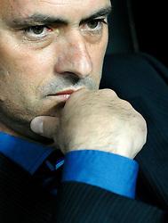 20-04-2010 VOETBAL: INTER MILAAN - FC BARCELONA: MILAAN<br /> Inter wint de eerste wedstrijd van de halve finale Champions League met 3-1 van Barcelona /  JOSE MOURINHO<br /> ©2010-FRH-nph / Andrea Staccioli